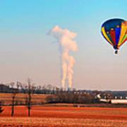 Hot Air Balloon Near Limerick Pa Poster