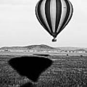 Hot Air Balloon Shadows Poster