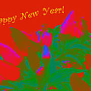 Hot As A Pepper New Year Greeting Card Poster