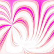 Hot Pink Swirls Poster
