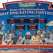 Hotdog Eating Contest Time Poster