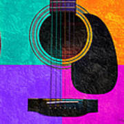 Hour Glass Guitar 4 Colors 2 Poster