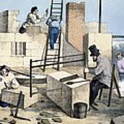 House Construction, 19th Century Artwork Poster
