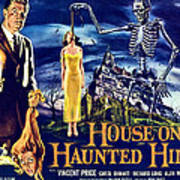 House On Haunted Hill, Left Vincent Poster
