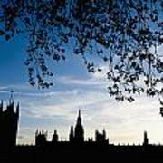 Houses Of Parliament Silhouette Poster