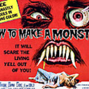 How To Make A Monster, Half-sheet Poster