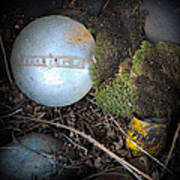 Hubcaps And Oil Cans Poster by Steve McKinzie