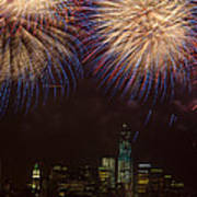 Hudson River Fireworks Xi Poster