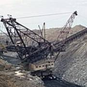 Huge Strip Mining Machinery Consuming Poster