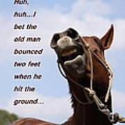 Huh Huh Horse Card Poster