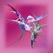 Hummingbird Fantasy Abstract Poster