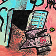 Hungry Robot Poster by Jera Sky