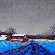 Hunterdon County Barns In Winter Poster