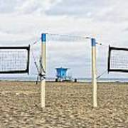 Huntington Beach Volley Ball Poster