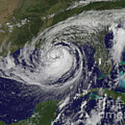 Hurricane Isaac In The Gulf Of Mexico Poster