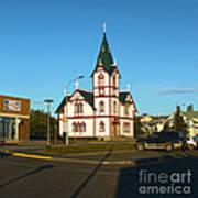 Husavik Iceland Church Poster