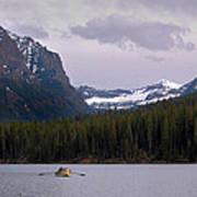 Hyalite Lake Rower Poster