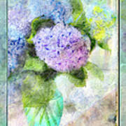 Hydrangea Art Greeting Card Poster