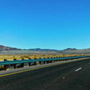I-15 Highway, Los Angeles To Las Vegas Poster