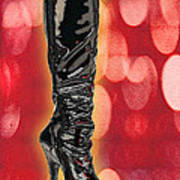 I Love The Night Life Patent Boots Poster