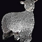 Ice Cold Lamb Carved In Ice Poster