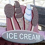 Ice Cream Sign Poster