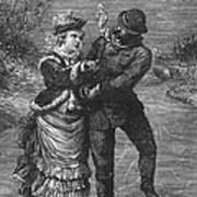 Ice Skating, 19th Century Poster
