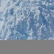 Icebergs Calving From Chenaga Glacier Poster
