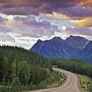 Icefields Parkway, Jasper National Poster