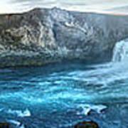 Iceland Godafoss Waterfall Panorama Poster