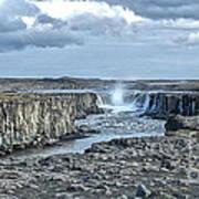 Iceland Waterfall Selfoss 04 Poster