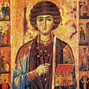 Icon Of Saint Pantaleon Poster by Science Source