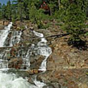 Icy Water Falls Glen Alpine Falls Poster