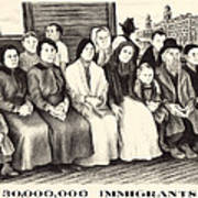 Immigrants. Shows A Group Of Immigrants Poster by Everett