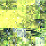 Impatience Geometric Yellow Poster