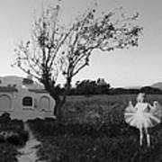 In My Dreams I Am A Little Girl Bw Poster
