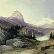 In The Bighorn Mountains Poster by Thomas Moran
