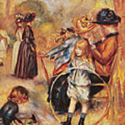 In The Luxembourg Gardens Poster by Pierre Auguste Renoir