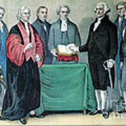 Inauguration Of George Washington, 1789 Poster
