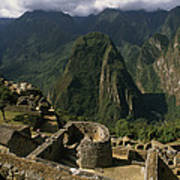 Inca Ruins At Machu Picchu Are Biggest Poster by Gordon Wiltsie