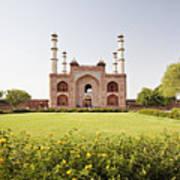 India, Uttar Pradesh, Agra, Sikandra, Akbar's Tomb Poster