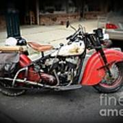 Indian Chief Motorcycle Rare Poster