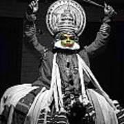 Indian Kathakali Dance Of Kerela 2 Poster by Sumit Mehndiratta