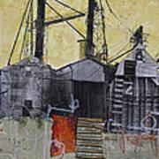 Industrial Landscape 1 Poster by Elena Nosyreva