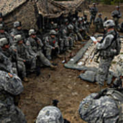 Infantrymen Receive Their Safety Brief Poster