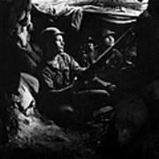 Infantrymen Take Advantage Of Cover Poster