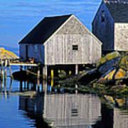 Inlet At Peggys Cove Nova Scotia Poster