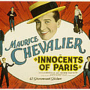 Innocents Of Paris, Maurice Chevalier Poster by Everett