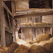 Inside Keeler's Barn Poster