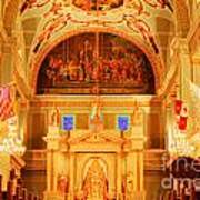 Inside St Louis Cathedral Jackson Square French Quarter New Orleans Accented Edges Digital Art Poster
